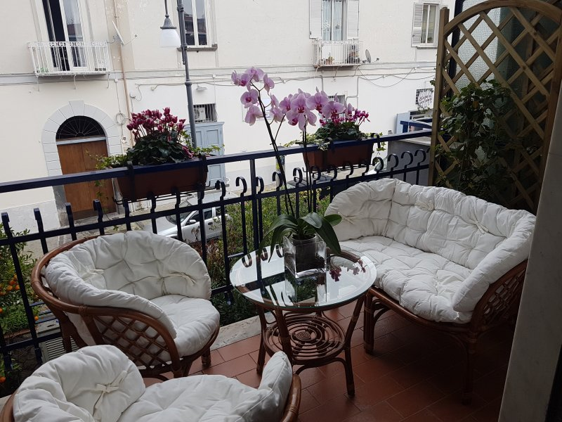 """Sitting area in bedroom terrace """"The Rose"""""""