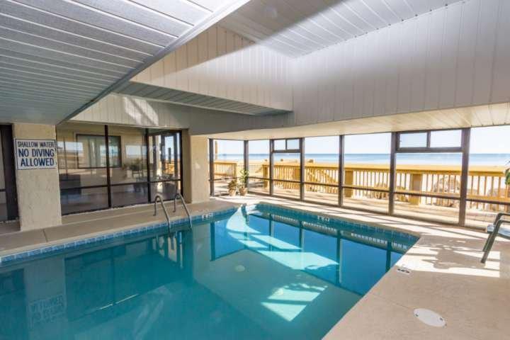Indoor pool to enjoy rain or shine, year 'round.