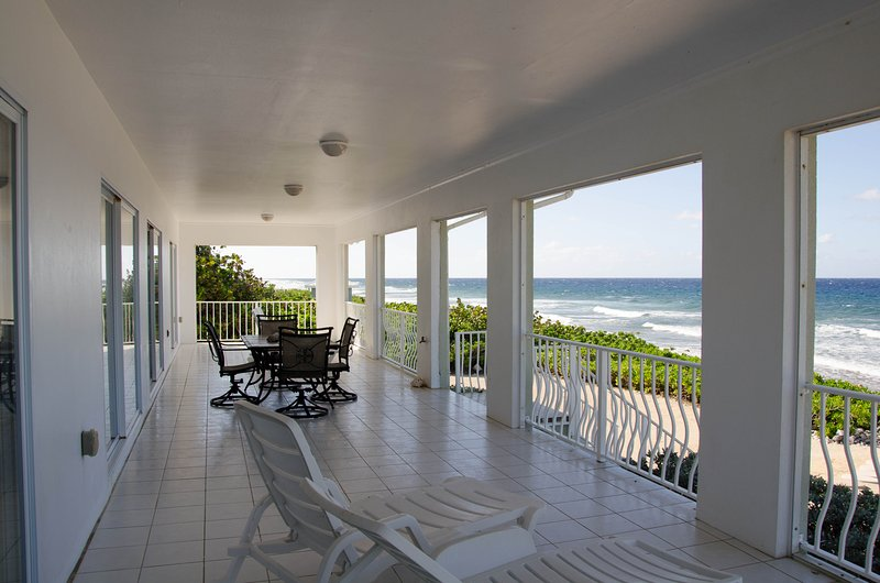View of Caribbean from 12'x54' porch