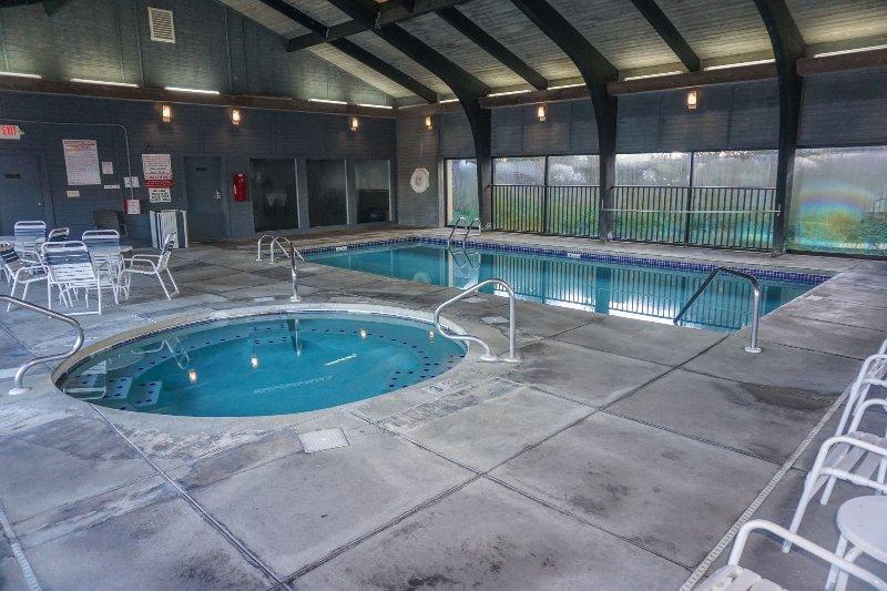 Indoor heated pool and hot tub.