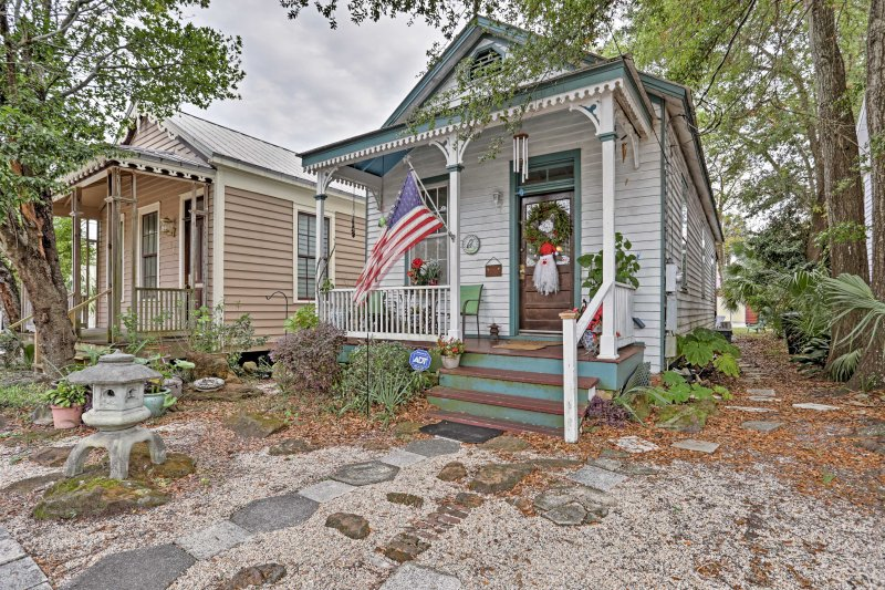 Explore one of America's first settled coastal towns from this lovely Pensacola vacation rental house.