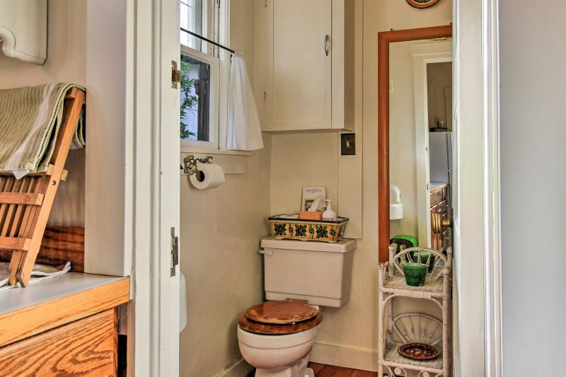 The full Jack-and-Jill bathroom connects to the bedroom.