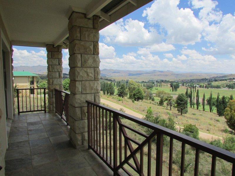 Voir au Lesotho côté de la terrasse