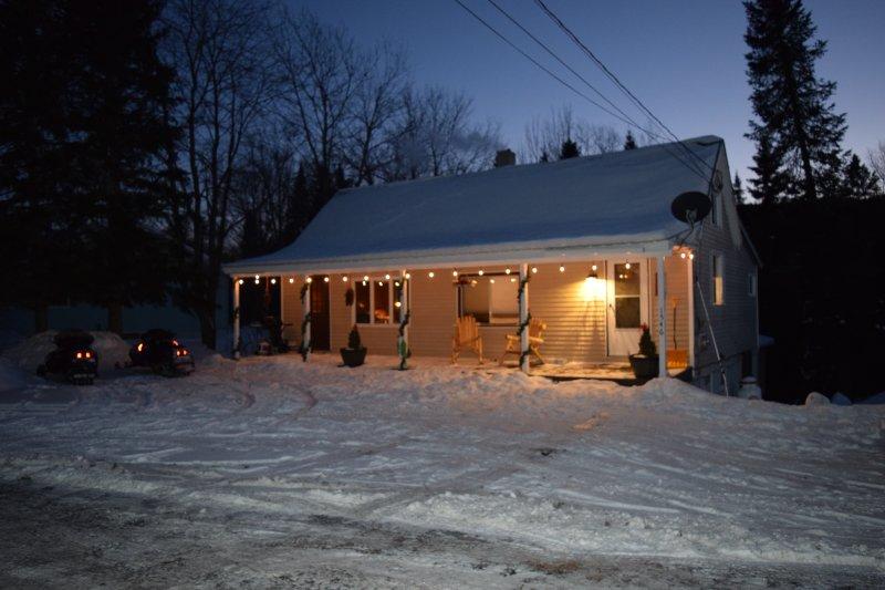 Avant de la cabine - La neige a commencé et plus sur le chemin! Obtenez vos traineaux prêt!