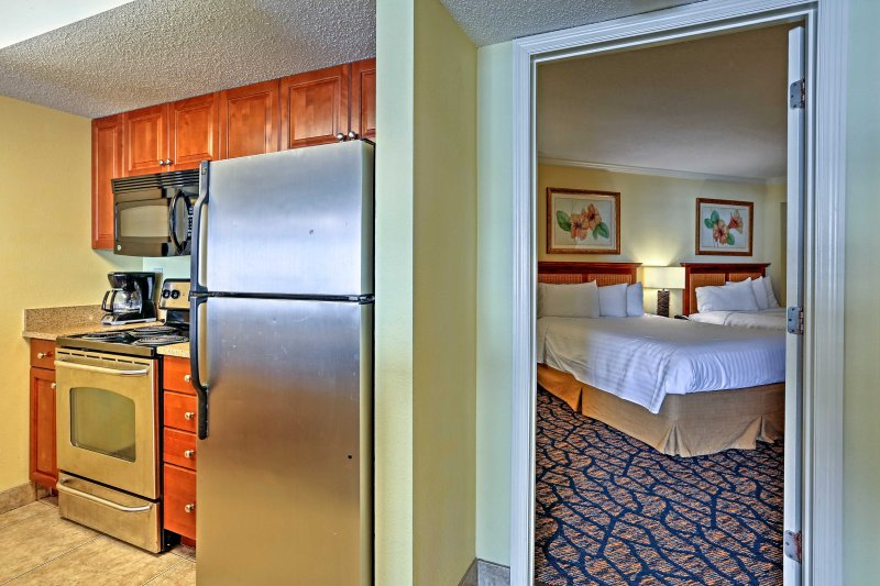 After dinner, retire to your bedroom and lounge in luxury,