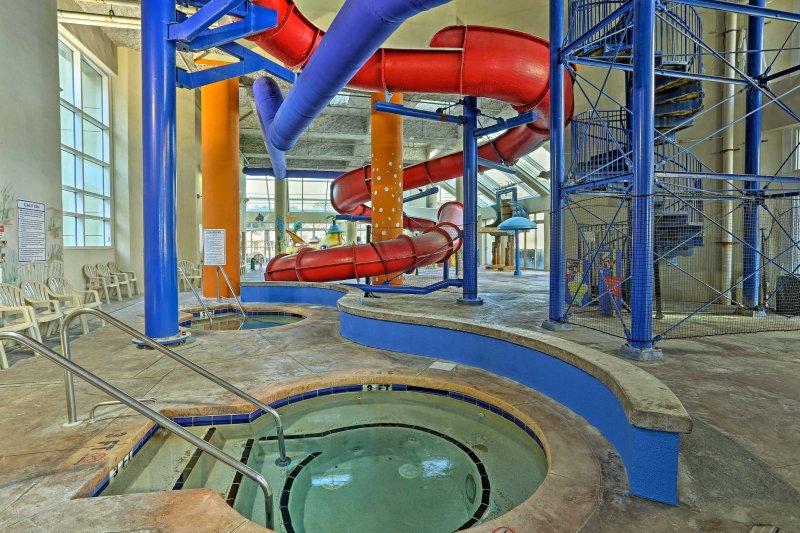 Splash around in the resort's 2 water parks.