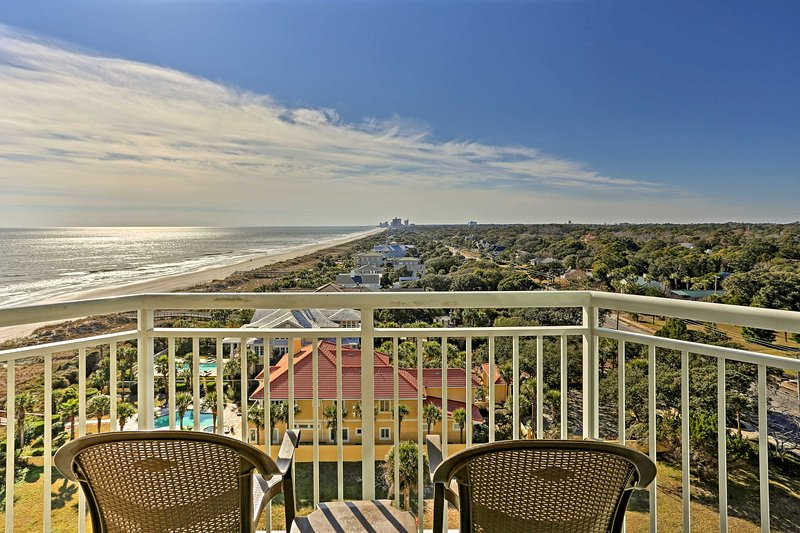 Fall in love with Myrtle Beach in this 2-bedroom, 2-bathroom vacation rental condo for 8.