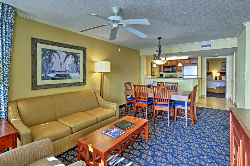 This Dunes Village Resort condo sits within 5 miles of the city's main attractions.