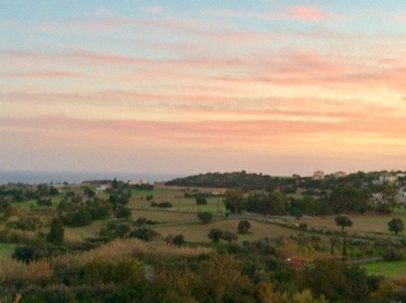 Maroni sunset. From Cyprus's Retreat, village Maroni, Larnaca district, Cyprus.
