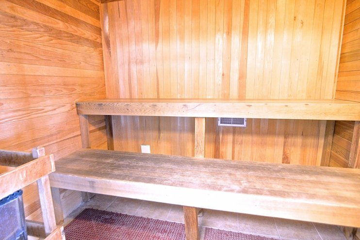Full Size Sauna in the Gym