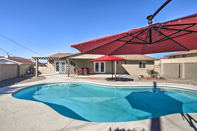 Book this Lake Havasu City vacation rental house that sleeps up to 12 guests.
