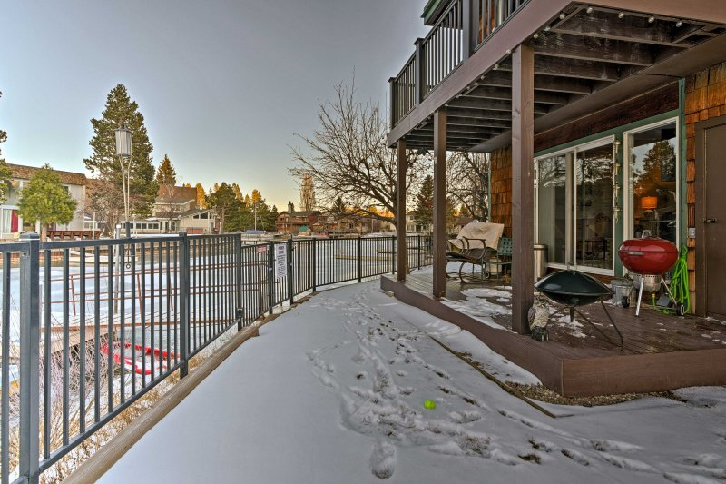 Located in the Tahoe Keys, this 2-bedroom, 2-bath home offers a private dock.
