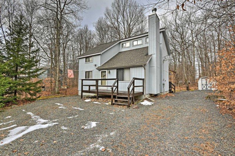 Escape to Pocono Lake at this 3-bedroom, 1.5-bathroom vacation rental house!