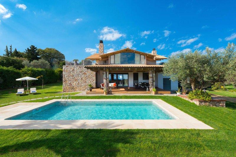 Blue & Green View Villa, location de vacances à Rhodes (ville)