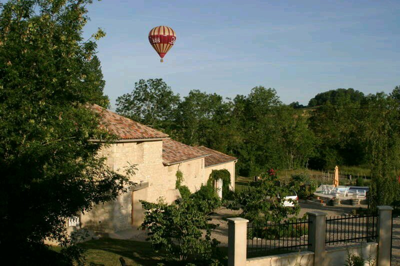 View of the property.The bedroom is at the bottom.The balloon is gone ....
