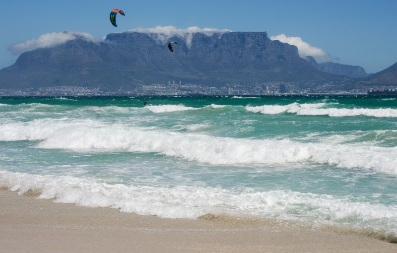 Local beaches are renowned for kite-surfing