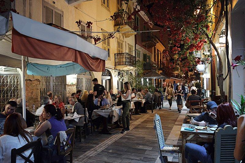 Restaurants und Tavernen in der Altstadt von Nafplio