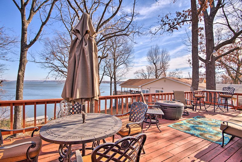 Enjoy a family meal on the furnished deck.