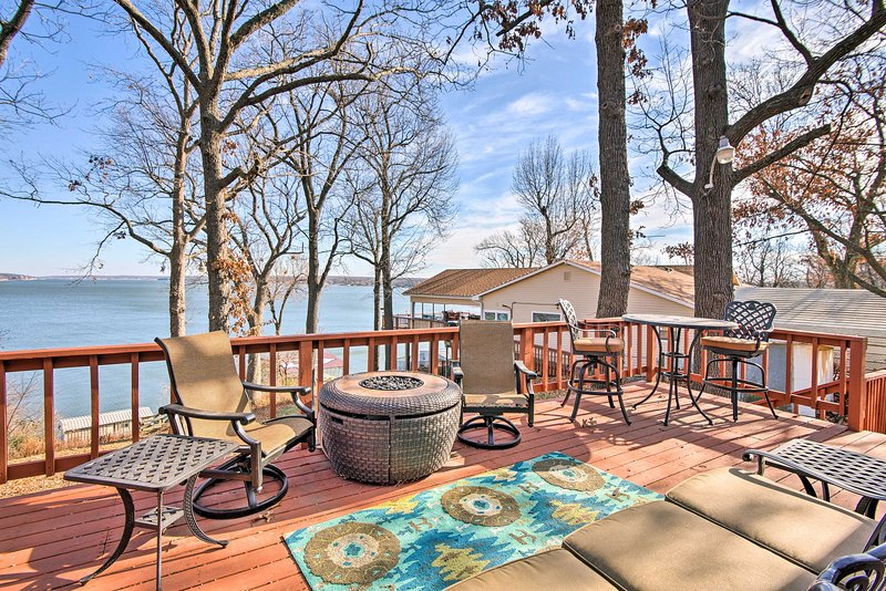 Escape the rat race and enjoy the lake life in this 2-bedroom, 1-bathroom vacation rental home in Disney, Oklahoma.