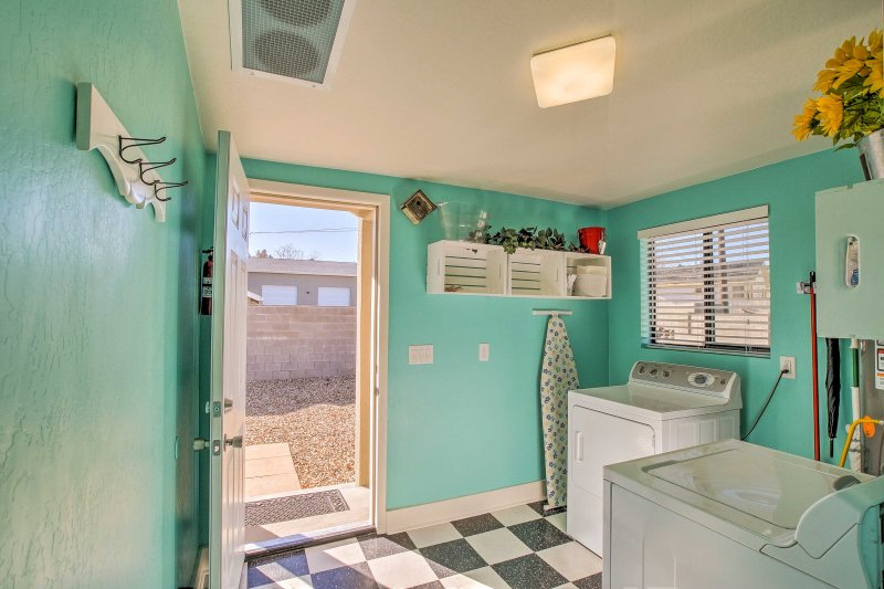 Enjoy the added luxury of in-unit laundry machines featured in this cottage.