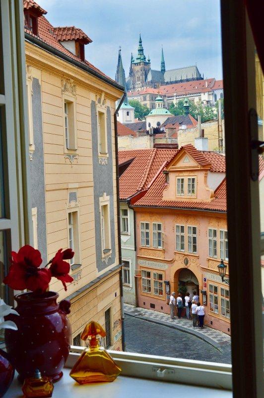 Vista da sala de estar - Castelo de Praga.