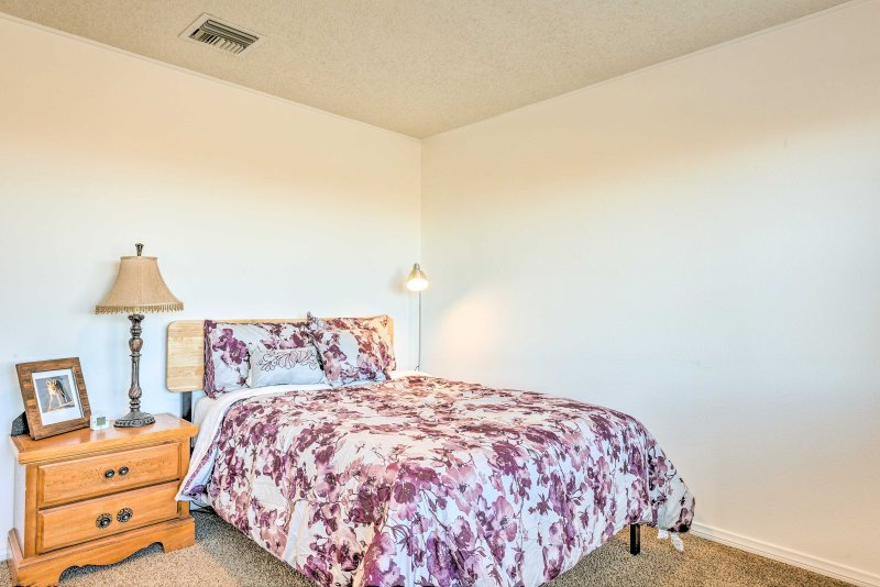 Get a quality rest on the full bed in the third bedroom.