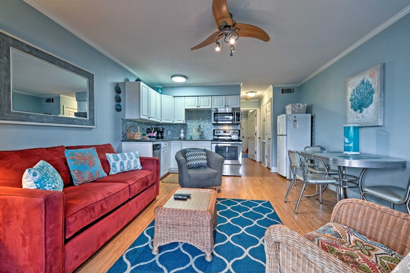 Escape your everyday worries and head to this recently renovated 1-bedroom, 1-bath vacation rental condo in Hilton Head!