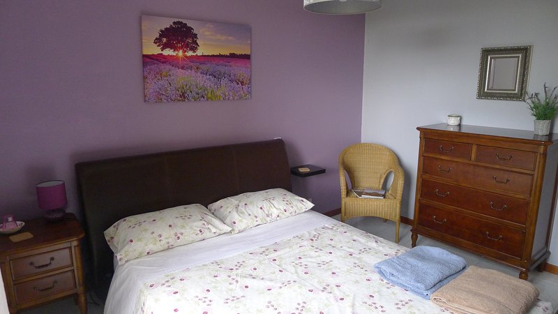Upstairs bedroom (king) opens out onto terrace