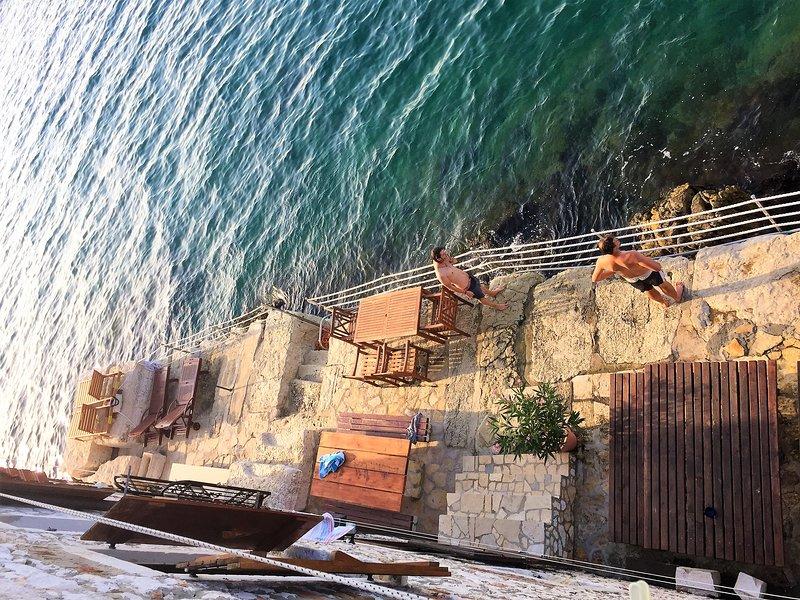 terras en toegang tot de zee