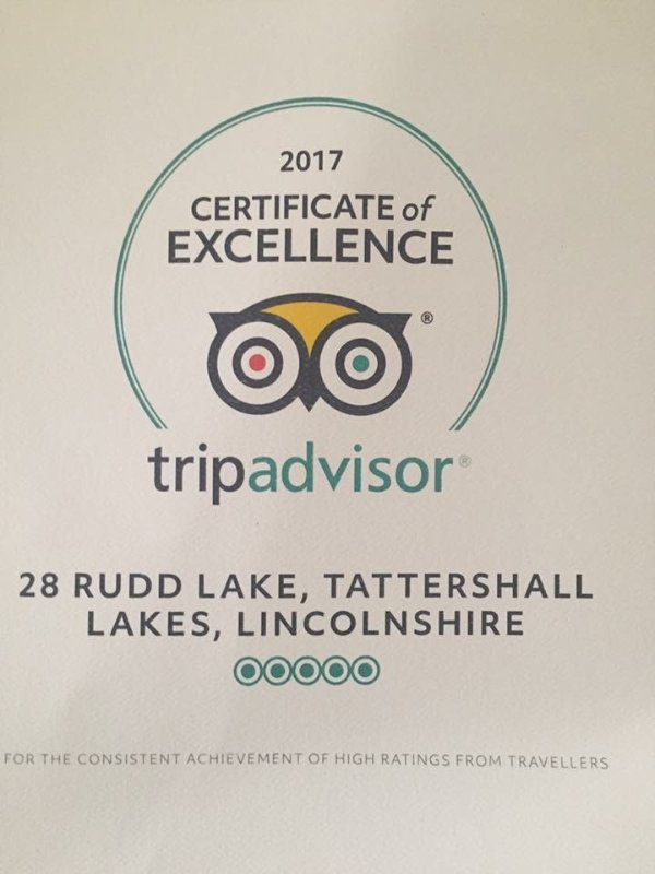 Certificate of Excellence for 2017.