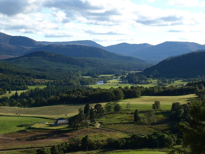 Looking towards Braemar from just above the cottage