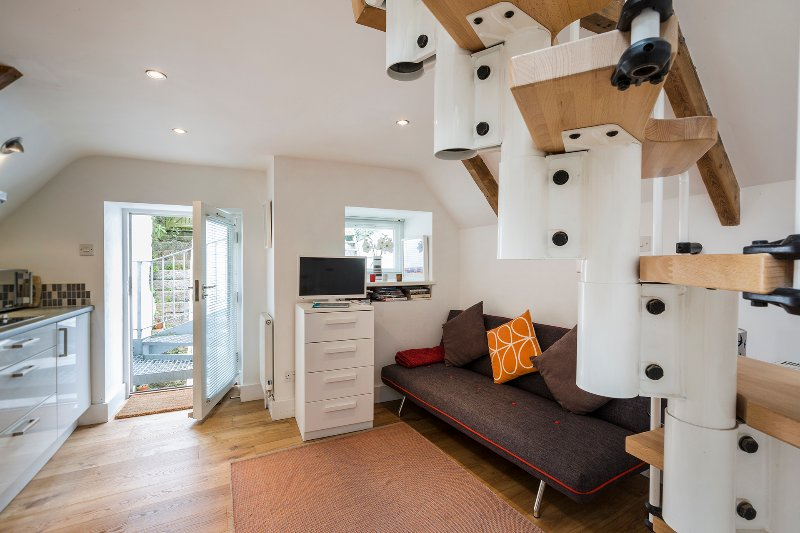 A light, airy and compact studio in the heart of St Ives with the benefit of a sun terrace and garde