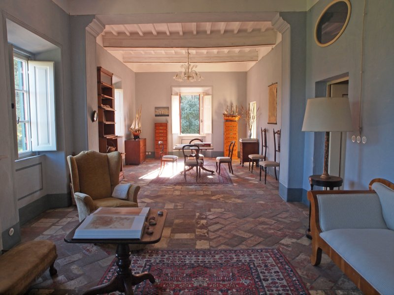 Villa Pozzolo, salón azul.