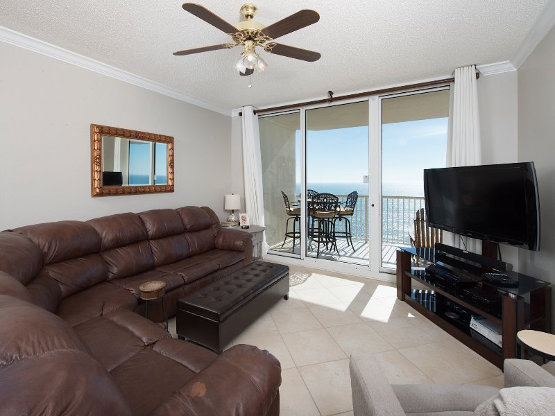 Living room & view of the Gulf