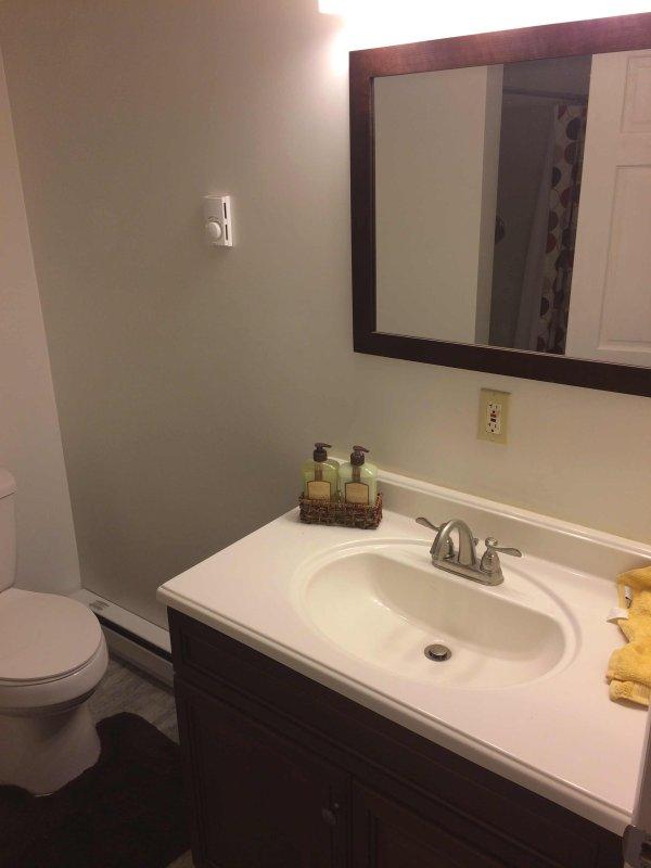 3 full bathrooms, one on each floor