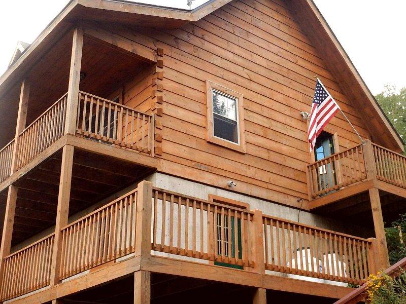 Vista desde la terraza inferior hasta la cabina