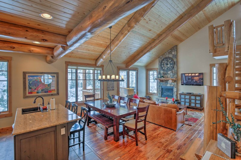 Explore the Winter Park area while staying at this 4-bedroom, 3.5-bath vacation rental home in Fraser, Colorado!