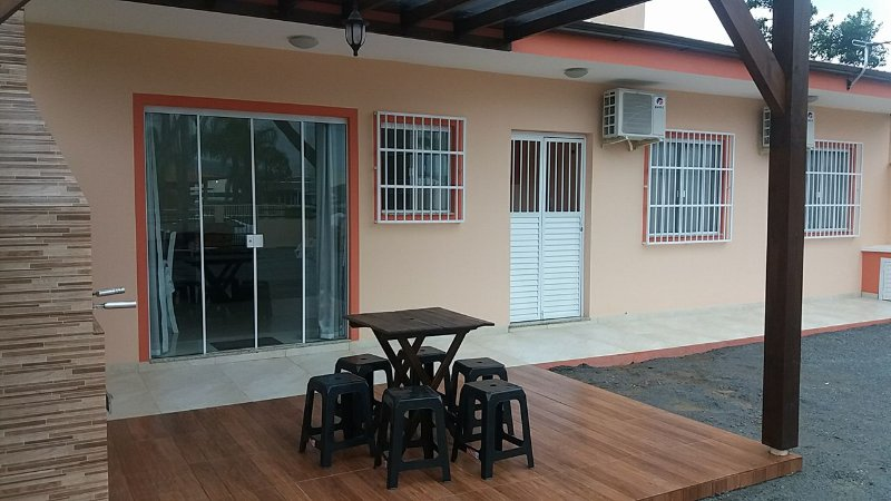 Front of house with barbecue area