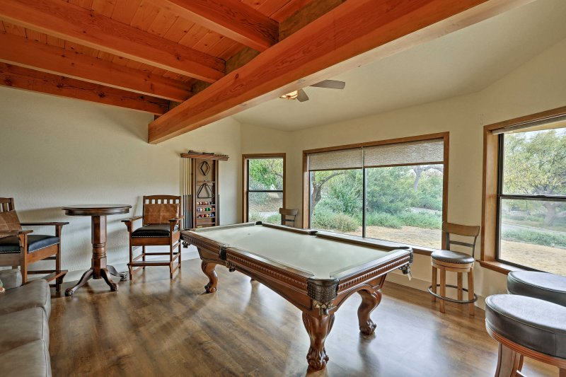 Play a round of pool from the comfort of home.