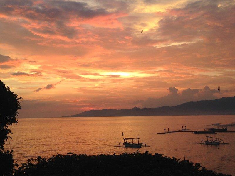 Magical orange sunset