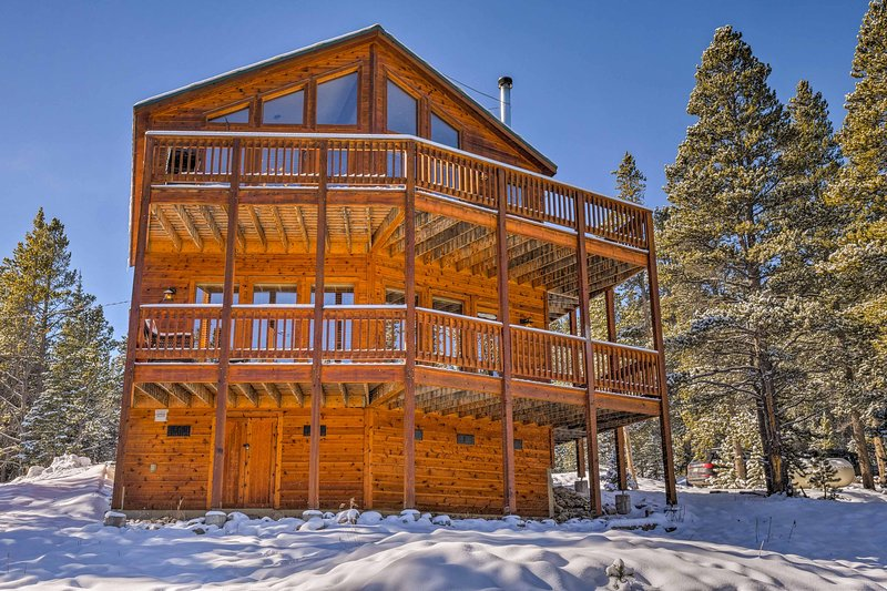 Escape to this private 3-bedroom, 2-bathroom vacation rental house in Fairplay, set in the middle of the Rocky Mountains!