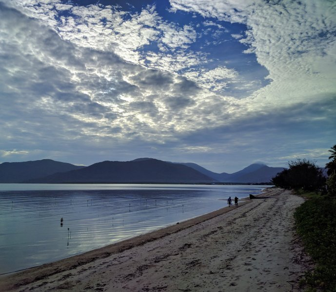 looking out and down the Cairns Esplanade