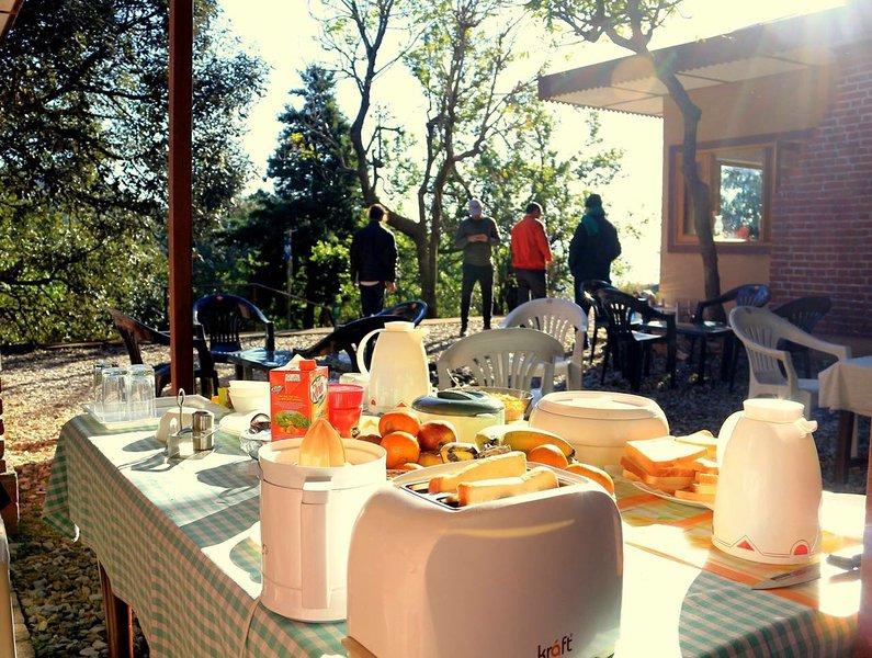 mise en page Buffet petit-déjeuner à l'extérieur des chalets