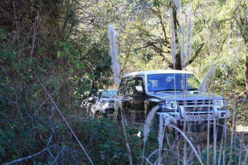 parking SUV dans la Dolina