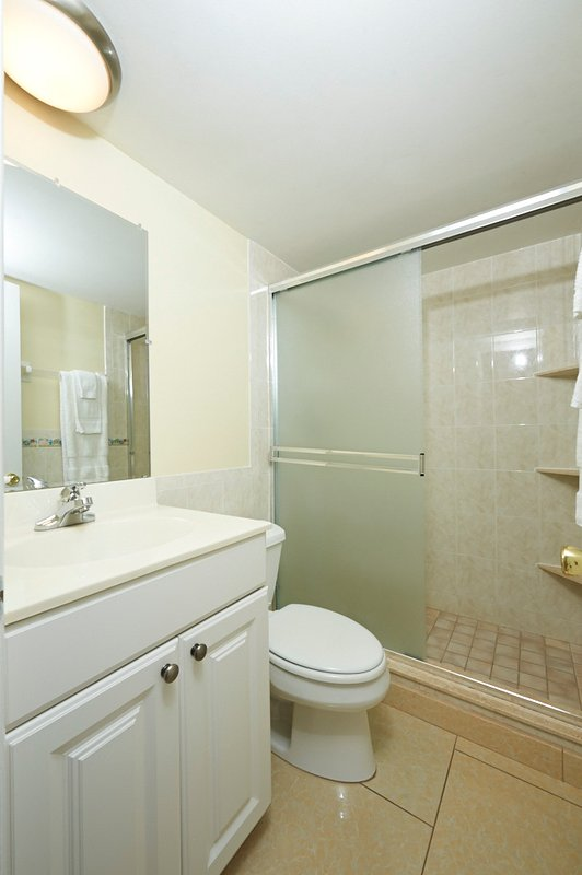 Bathroom #1 with tiled shower