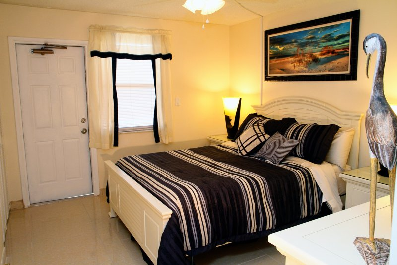 Guest Bedroom with a Queen Bed and a Tempur-Pedic Mattress
