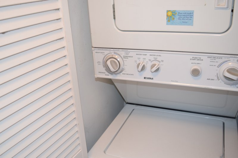 Una lavatrice / asciugatrice nell'unità per la vostra convenienza