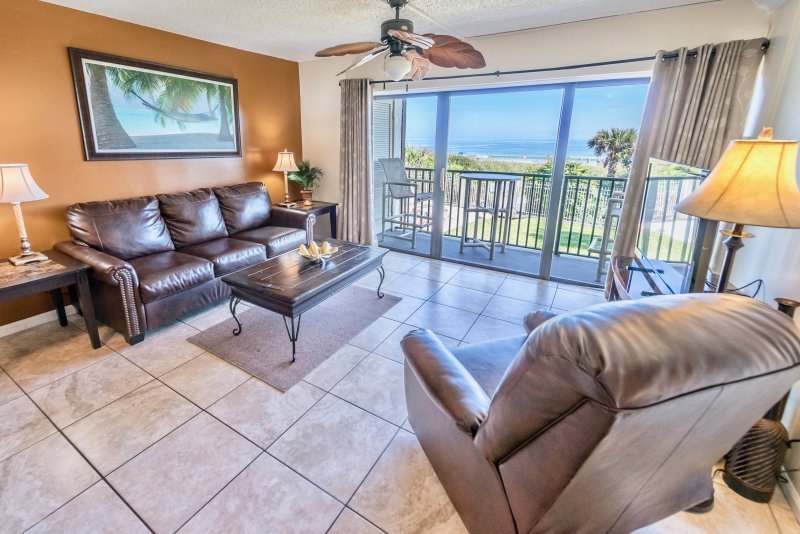 Enjoy a beautiful ocean view right from your living room.