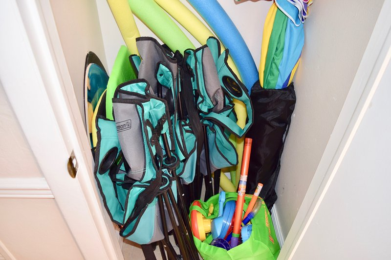 The unit is stocked with everything you need for the beach.