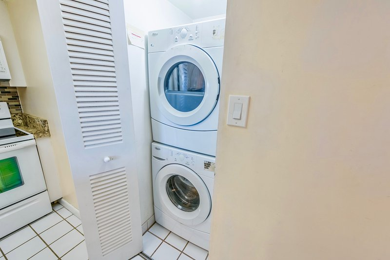 Washer and Dryer in the unit for your convenience.